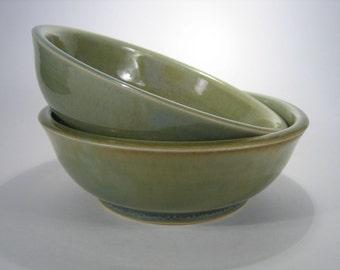 Moss-Green Bowls, set of 2