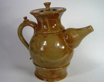 Earth-Toned Tilted Teapot
