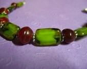 Cranberry and Lime bracelet