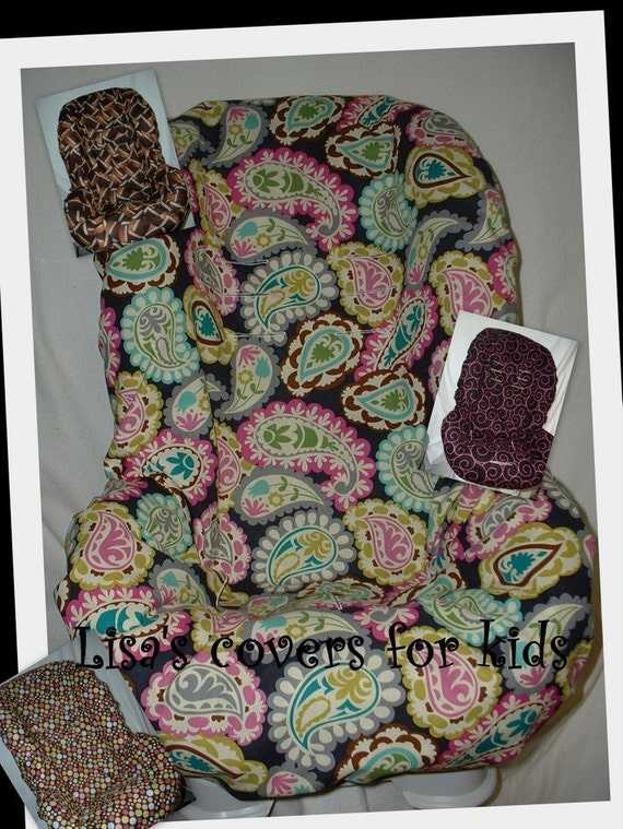 Toddler car seat COVER - Fits most brands of Seats - Reversable...Many FABRIC CHOICES - Washable...Lisas covers for kids