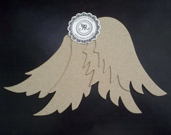 77 -  Chipboard Angel Wings Set of 4pcs. for Mini Albums, Hanging Tags, Party Favor and Many More Uses