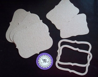 55 - Chipboard Die Cut Shapes Chunky Top Notes and Chipboard Die Cut Photo Frames Set of 6 pcs. Annie42 - AR Creations on Etsy