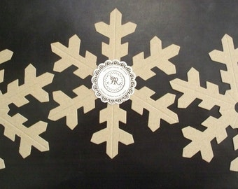 75 - Chipboard Big Snowflake Open Middle Heavy 38pts (Craft Store Quality) Set 3 Built 3D for Wedding, Banners, Scrapbook, Cards, Favors