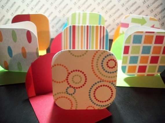 Blank Mini Cards, Gift Cards, Mini Notes, Mini Note Cards - BABY SALE - Variety Set of 6 by Annie42 on Etsy