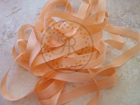 Seam Binding Ribbon 5 yards TANGERINE ORANGE Seam Binding, Baby Sale Event by Annie42 - AR Creations on Etsy