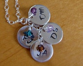 Custom hand stamped mother/grandmother necklace