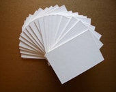 20 Matboard ACEO ATC blank cards 2.5x3.5 White or Black or Cream or White with black core ACEO Thick Rigid