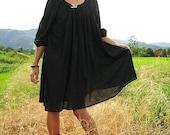 SALE...Misguided angel 3/4 sleeve...Black M-XL