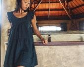 Kitty Dress ...silk mix linen (1419) / Maternity Dress /Lining/ Casual Dress in 3 sizes