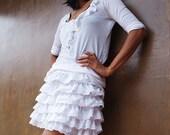 28 USD Sale...Ruffle shorts...White lace (2 sizes M,L)