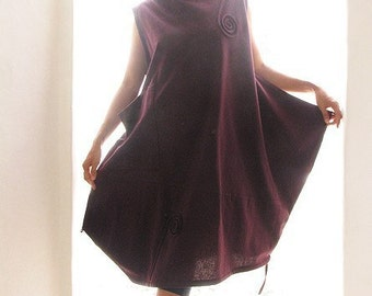 Tulip dress swirl...Purple (one size fit most)