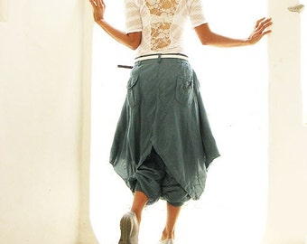 Hanna funky Skirt over pants...All color mix silk ( 3 sizes M, L,XL)