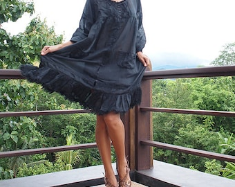 30 USD Sell  Padma dress...Mix silk Black (M-L)