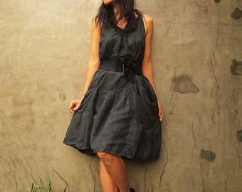 Alexis dress...Black mixed silk 05 S-L