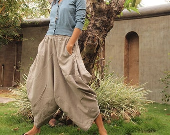 Origami long lounge pants ...Light Gray 100% cotton  (M, L,XL) 1170