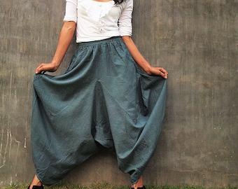 Origami long lounge pants ... linen/cotton  (M,L)