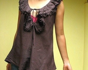 30 USD Sale...Love is 2...Brown blouse