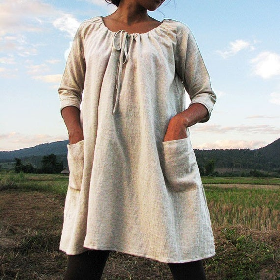 Last unit Love dress...Linen (one size)