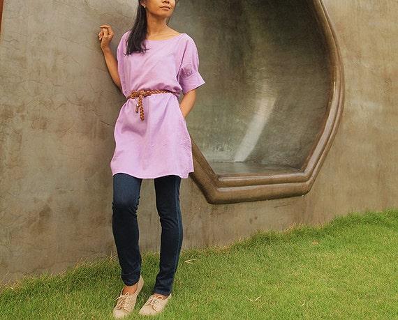 SALE...Vacation Day dream...Oversize soft purple tunic  (M-XL)
