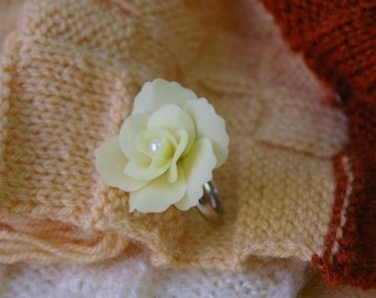 Miniature Polymer Clay Roses Supplies for Beaded Jewelry Ring