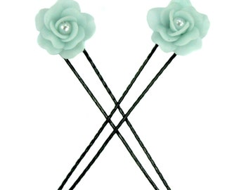 Polymer clay jewelry Miniature roses Hair Pin Gift Ideas for Her
