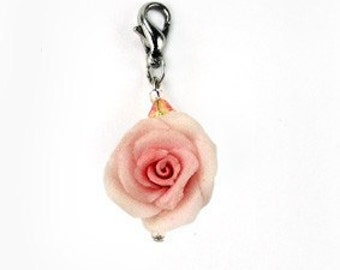 Tiny Polymer Clay Roses, Sophisticate Handcrafted Charm