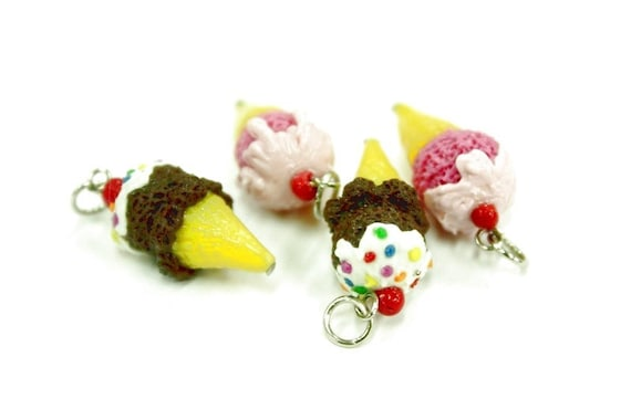Polymer Clay Beads Miniature Foods Charms Beaded Jewelry