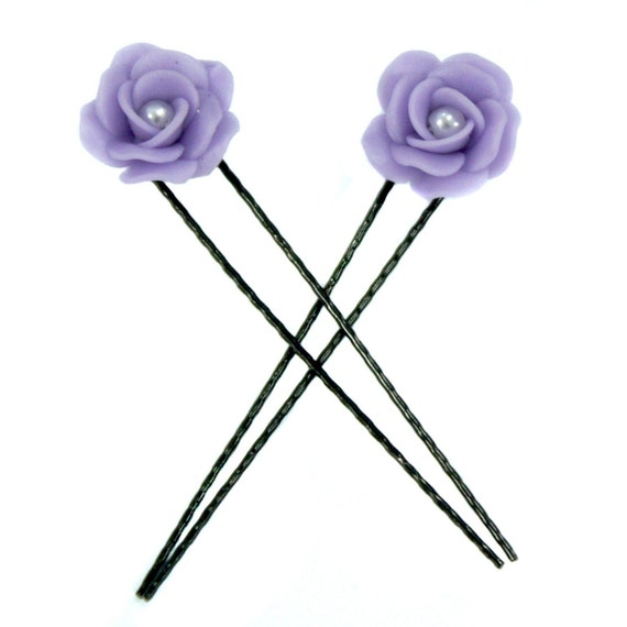 Polymer Clay Jewelry Miniature Roses Handmade Gifts Hair Pin