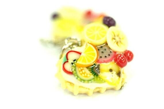 Miniature Foods Charm Polymer Clay Beaded Jewelry