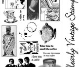 Coffee, Tea or Me -Clear Photopolymer Stamp Set