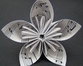 Five Petal Kusudama Flower - Recycled Sheet Music - Single Flower