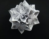 Kusudma Flower Ball - Recycled Sheet Music