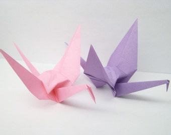 Pink Origami Crane - Single Crane