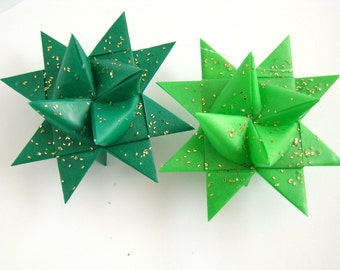 Moravian Stars - Lime/Dark Green - Set of 4