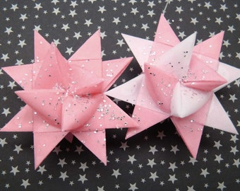 Moravian Stars - Pink and white- Set of 2