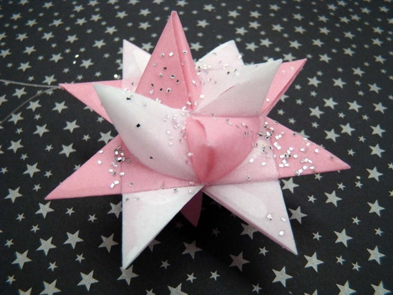 Moravian Stars - Pink and White - Set of 2