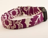 Floral Purple Handmade Dog Collar