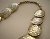 RESERVED Vintage 1970s Brass Choker Style Necklace
