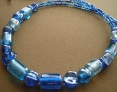 OPHELIA -stunning blue multi strand necklace