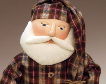 Sleepytime Santa cloth doll E-PATTERN