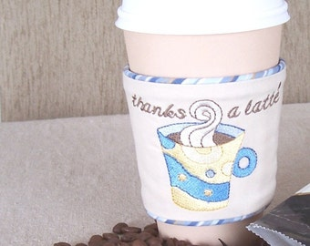 Cake & Coffee Machine Embroidery Designs sc008d and Coffee Cup Cuff and Embroidered Dessert Napkins Sewing Directions in PDF
