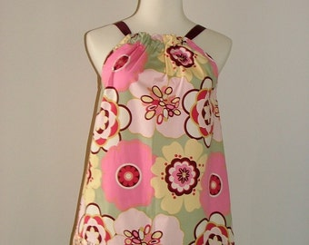 Pillowcase DRESS or TOP - Alexander Henry - Sage Kleo - Made in ANY Size - Boutique Mia