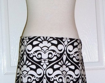 A-line SKIRT - Michael Miller - Damask - Made in ANY Size - Boutique Mia