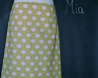 A-line SKIRT - Amy Butler - Midwest Modern - Made in ANY Size - Boutique Mia
