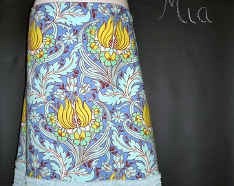 Ruffle A-line SKIRT - Amy Butler - Made in ANY Size - Boutique Mia