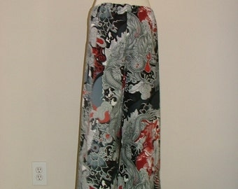 Samurai PANTS - Alexander Henry - Tatsu Dragon - Made in ANY Size - Boutique Mia
