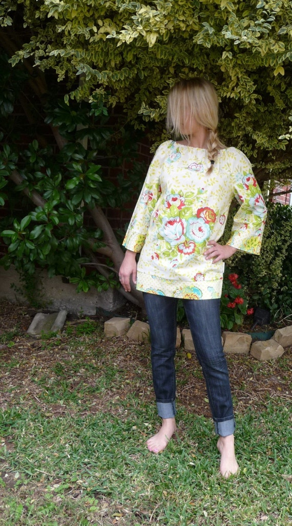 Ladies - Boatneck Tunic - You Pick the Size - Junior, Adult or Plus size - Boutique Mia by CXV