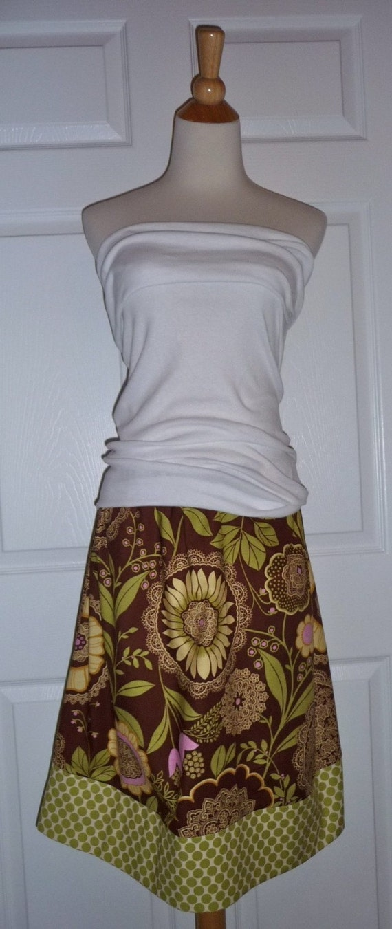 A-line SKIRT - Amy Butler - Lacework - Made in ANY Size - Boutique Mia