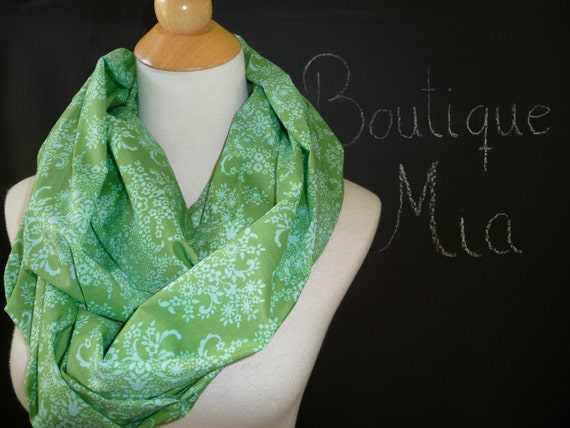 Infinity SCARF - Amy Butler - Voile - Light weight Cotton - by Boutique Mia