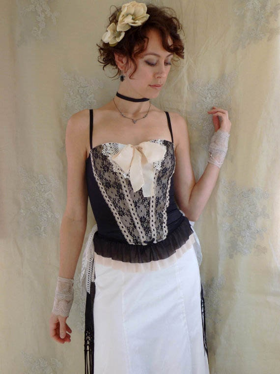 SALE Eudora Victorian Inspired Three Piece Dress Set... size Medium... Eco Friendly Recycled